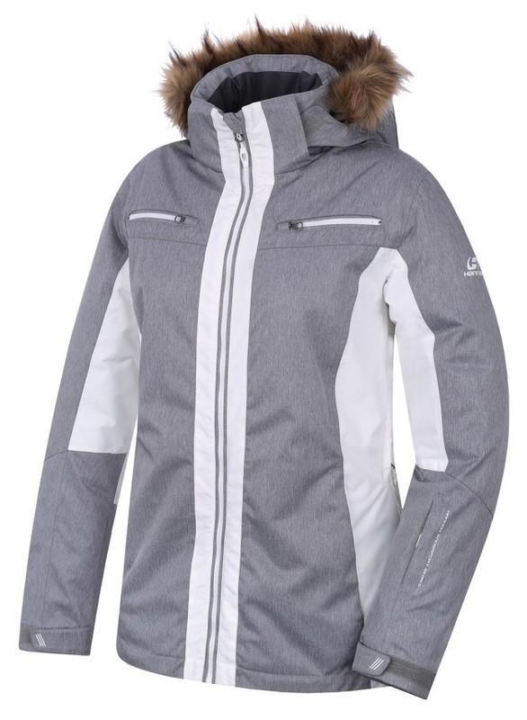 Bílo-šedá dámská lyžařská bunda Hannah - velikost 34