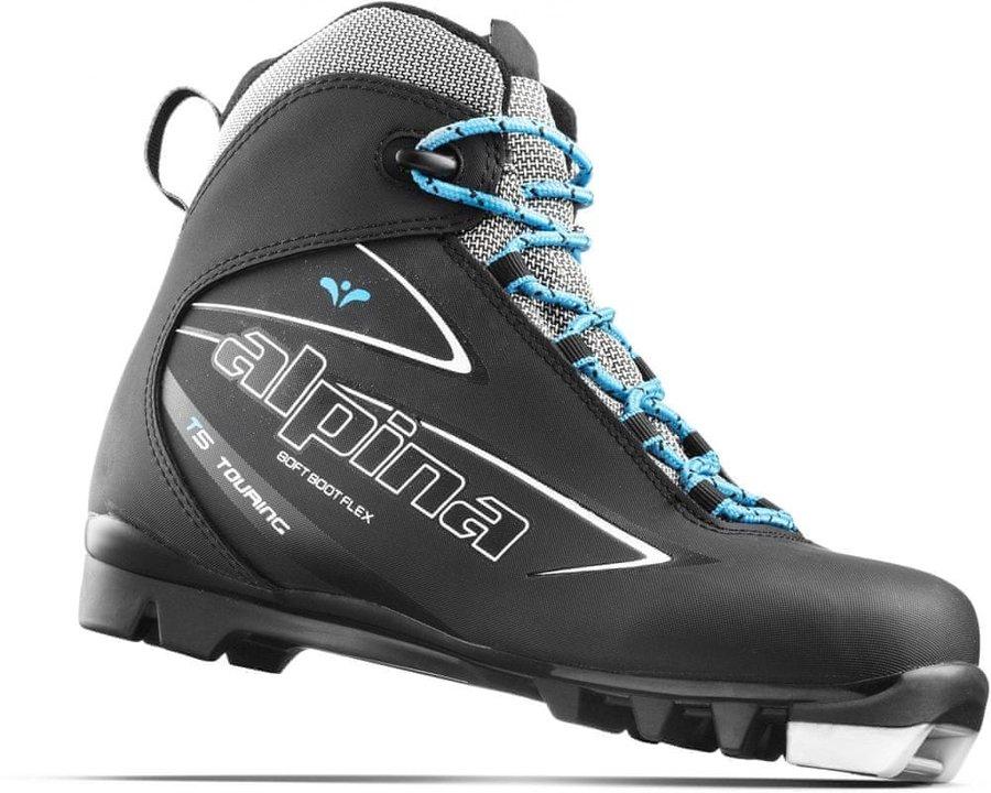 Černé dámské boty na běžky Alpina - velikost 36 EU