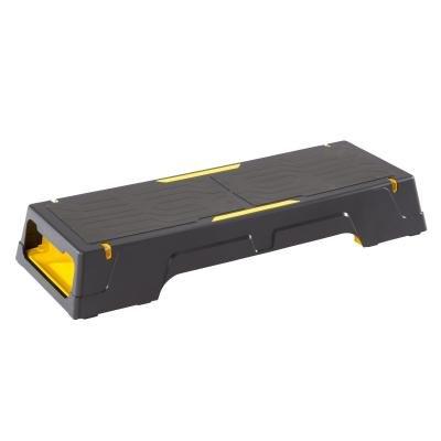 Černo-žlutý aerobic step Domyos