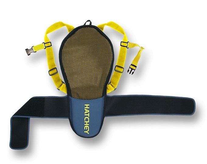 Černo-žluté dětské chrániče na snowboard na záda Hatchey - velikost XS
