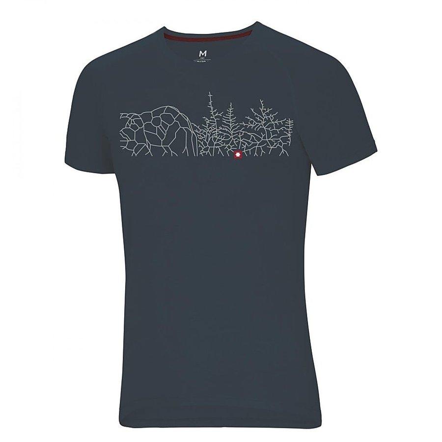 Šedé pánské turistické tričko s krátkým rukávem Ocún