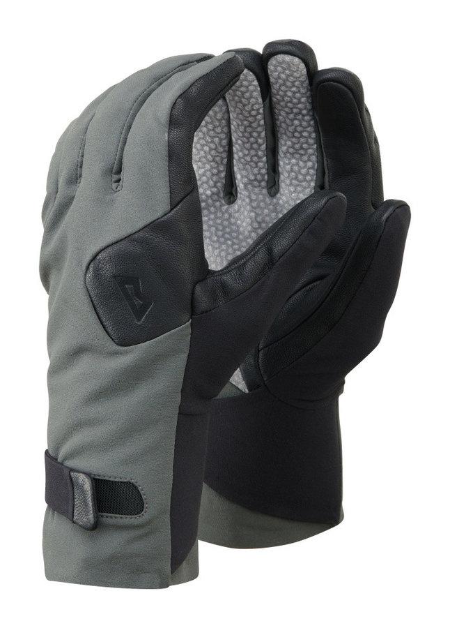 Černo-šedé zimní pánské ferratové rukavice Mountain Equipment