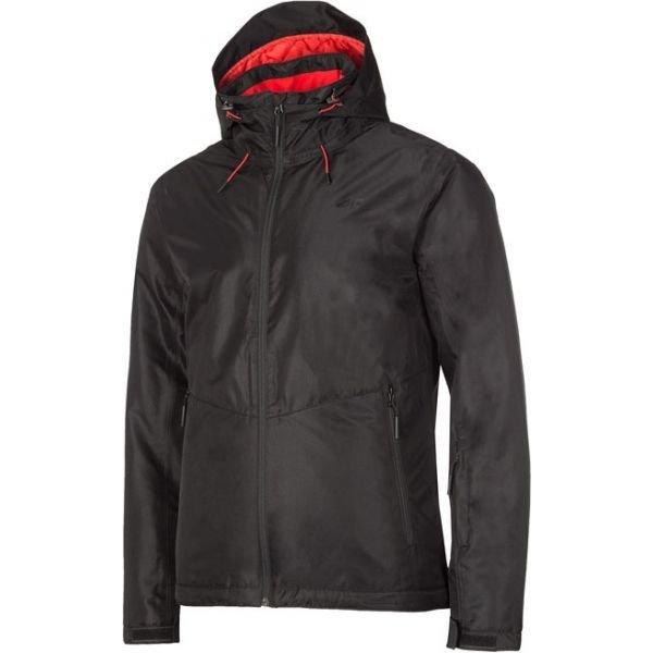 Černá pánská lyžařská bunda 4F