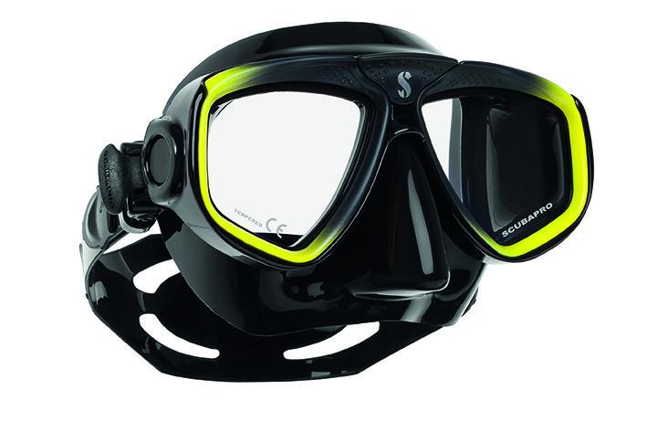 Potápěčská maska - Maska potápěčská Zoom Evo Scubapro - žluto/černá - černá