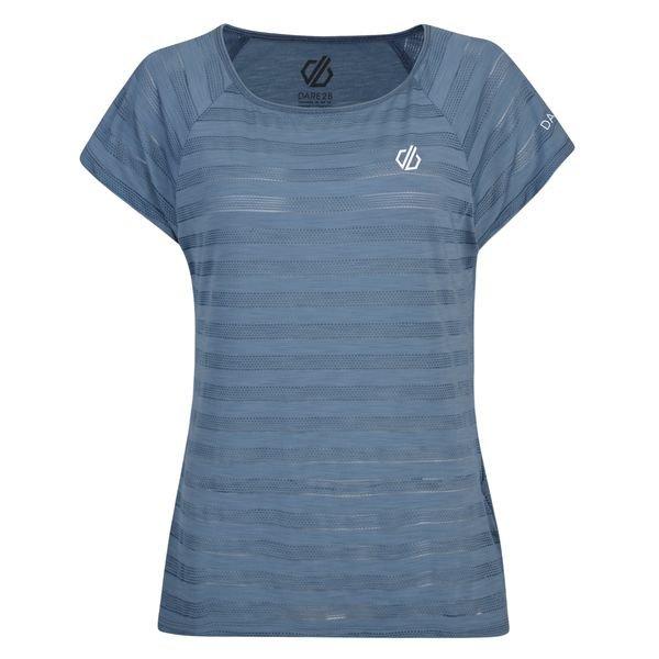 Šedé dámské funkční tričko s krátkým rukávem Dare 2b - velikost 44