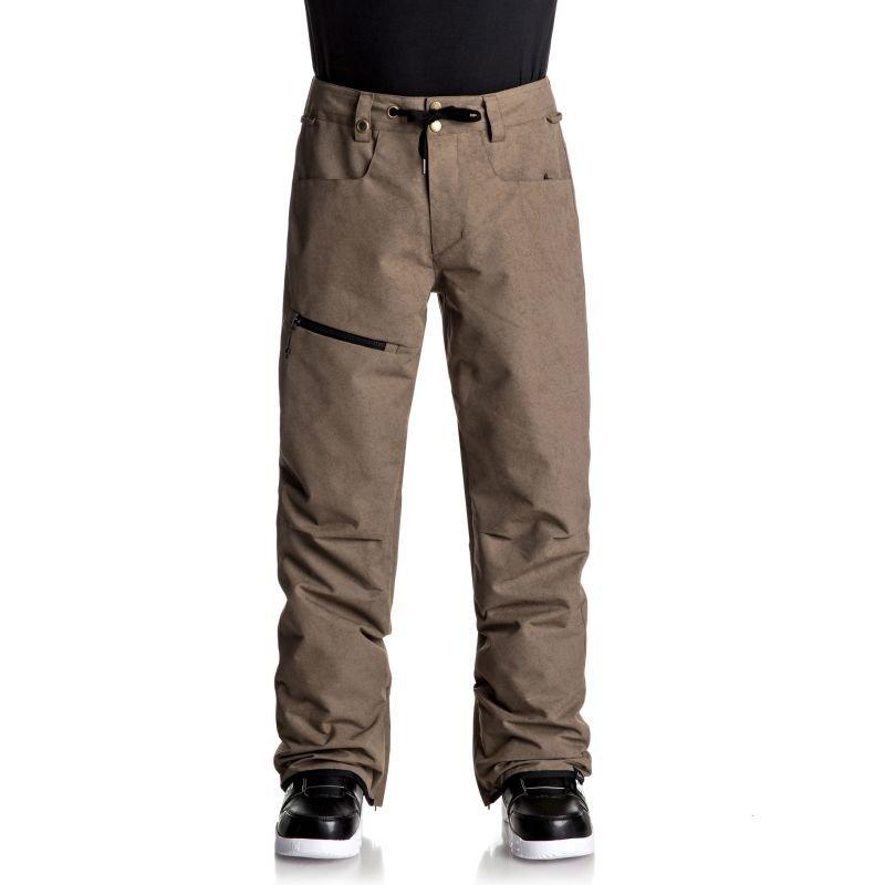 Hnědé pánské snowboardové kalhoty Quiksilver - velikost XL