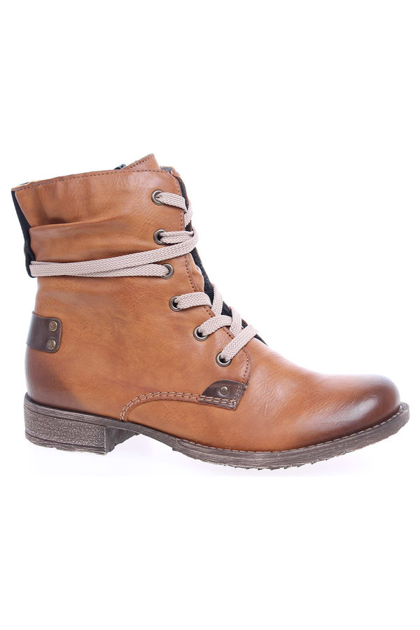 Hnědé dámské kotníkové boty Rieker - velikost 38 EU