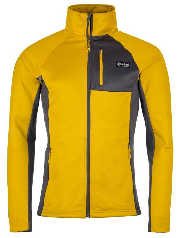 Žlutá pánská lyžařská mikina bez kapuce Kilpi