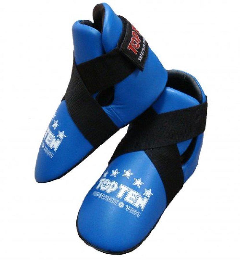 Modré chrániče na nohy Top Ten - velikost M