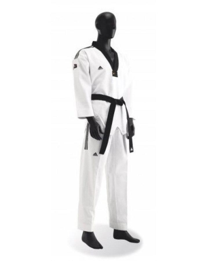 Kimono na taekwondo - TKD dobok - GRAND MASTER - bílá - bílá - velikost 210