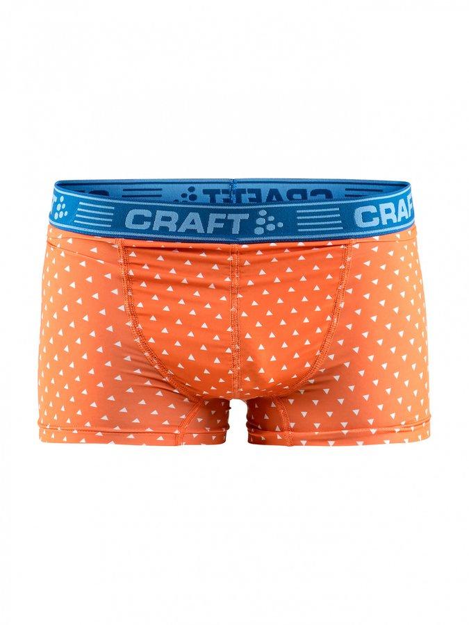 Oranžové pánské boxerky Craft - velikost M