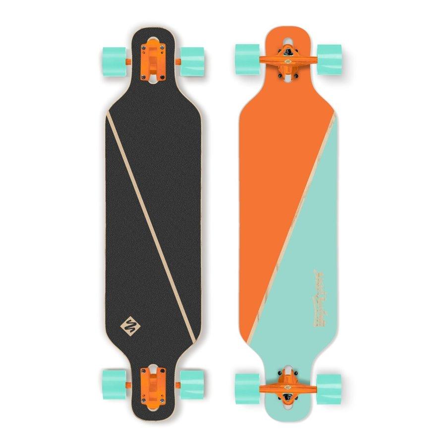 """Longboard - Longboard Street Surfing Freeride - Nordic Orange 39"""" ABEC 9"""