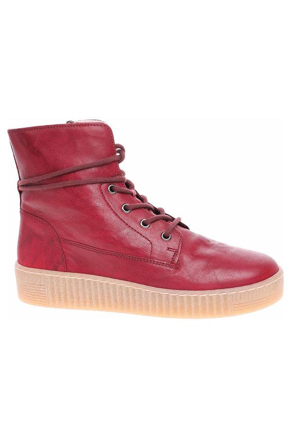 Červené dámské kotníkové boty Gabor