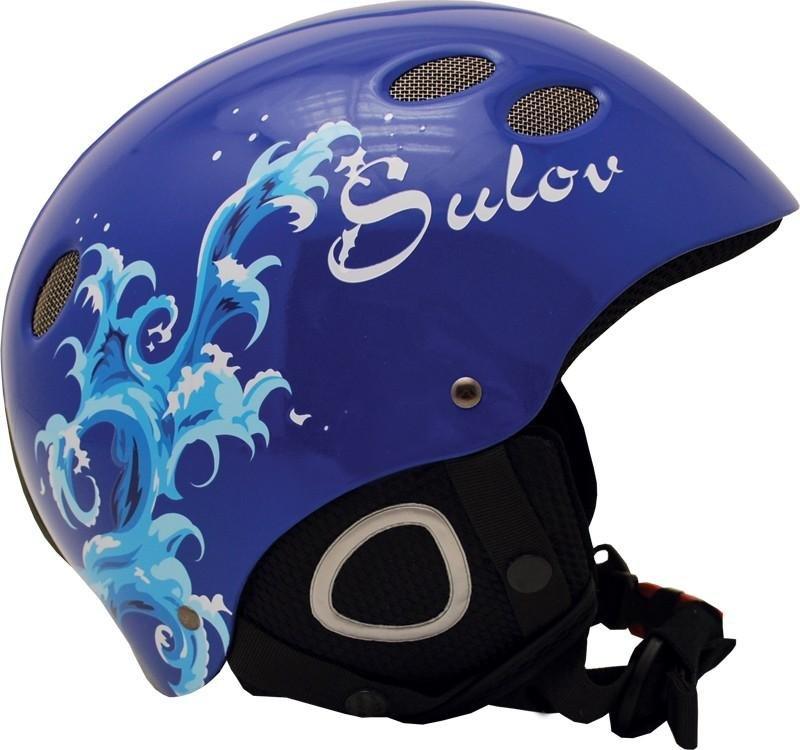 Modrá lyžařská helma Sulov - velikost 52-54 cm