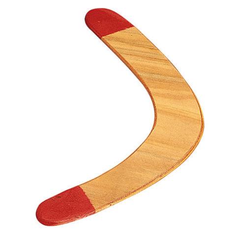 Červeno-hnědý dřevěný bumerang ROTHCO