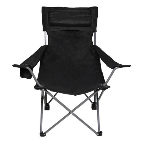Kempingová židle - Křeslo skládací DELUX ČERNÁ