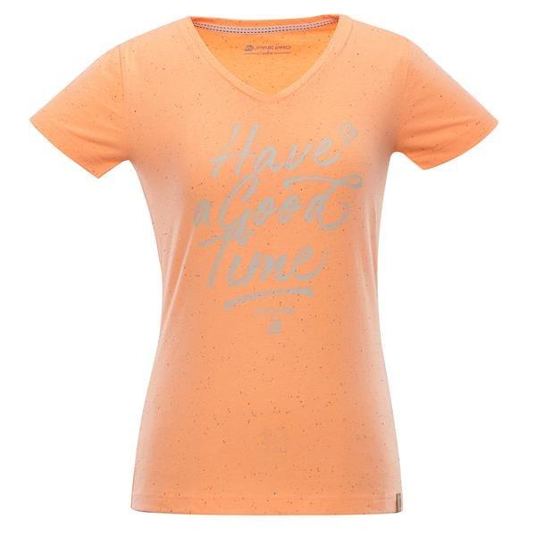 Oranžové dámské tričko s krátkým rukávem Alpine Pro