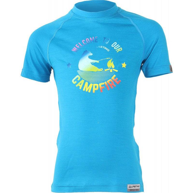 Modré dětské funkční tričko s krátkým rukávem Lasting