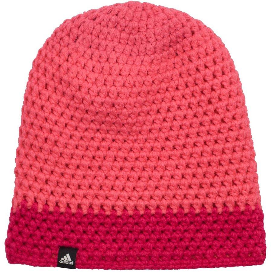 Růžová zimní čepice Adidas - velikost 54 cm