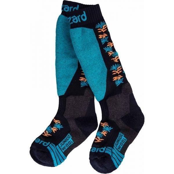 Černo-modré dětské lyžařské ponožky Blizzard