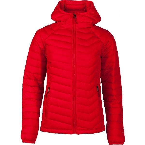 Červená zimní dámská turistická bunda s kapucí Columbia - velikost XS