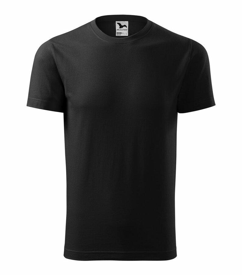 Černé tričko s krátkým rukávem Adler - velikost S