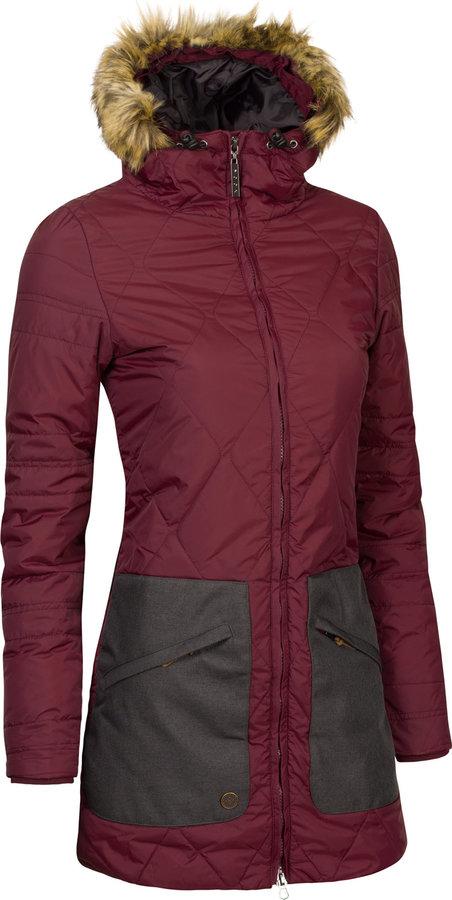 Červená zimní dámská bunda s kapucí Woox