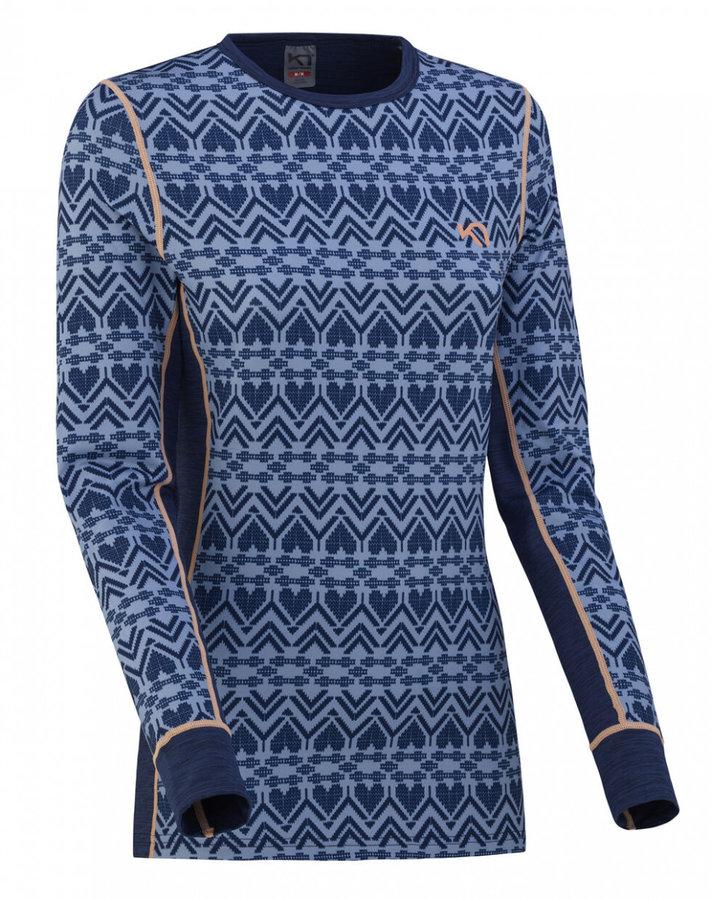 Modré dámské funkční tričko s dlouhým rukávem Kari Traa - velikost XL