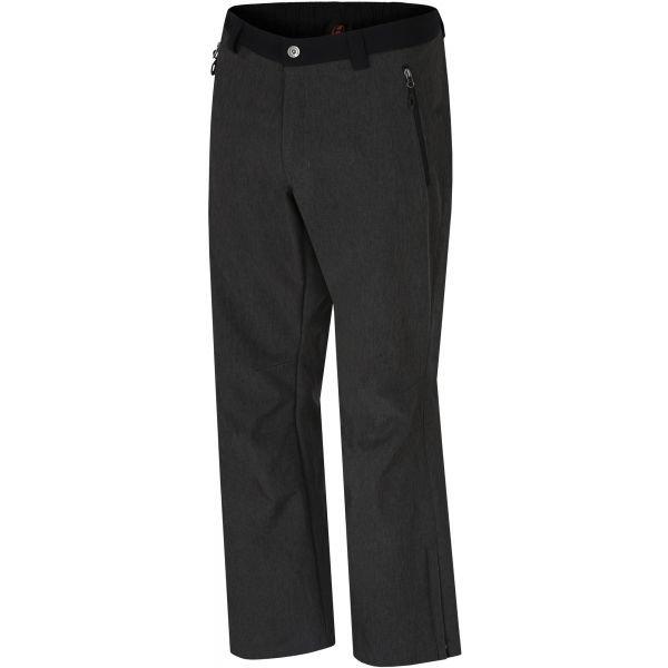Černé softshellové pánské kalhoty Hannah