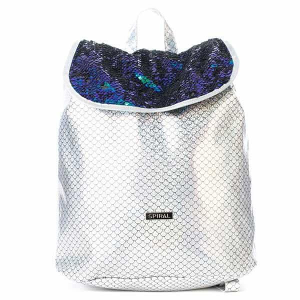 Batoh - Batoh Spiral Liberty Ariel Sequins Silver Backpack Bag - UNI