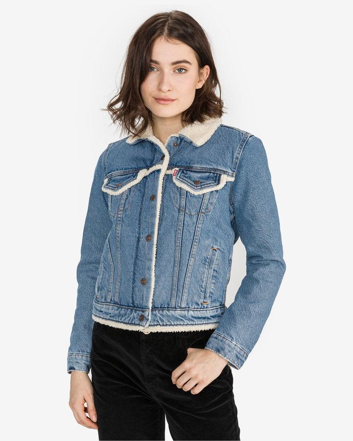 Modrá dámská bunda Levi's - velikost M