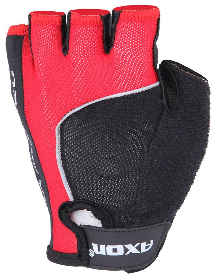 Červené dámské cyklistické rukavice Axon - velikost S