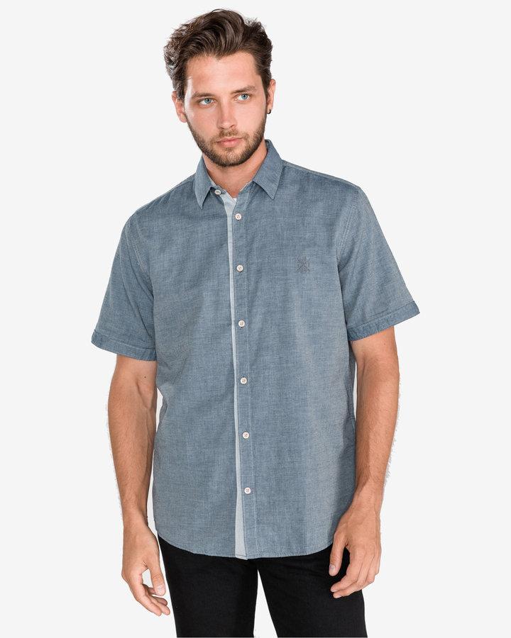 Šedá pánská košile s krátkým rukávem Tom Tailor - velikost S