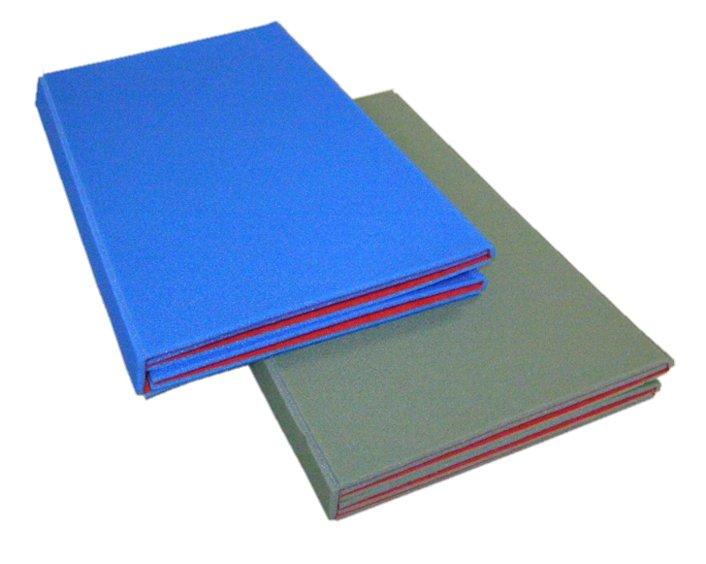 Červeno-modrá podložka na cvičení - tloušťka 0,7 cm
