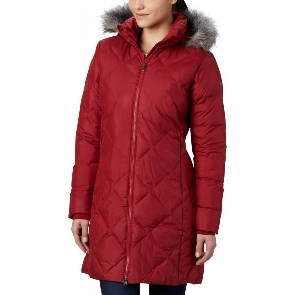 Červená zimní dámská bunda Columbia