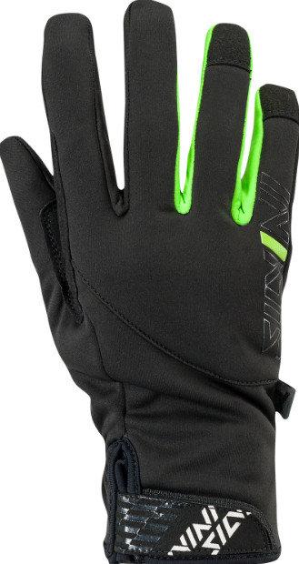 Černo-zelené pánské rukavice na běžky Silvini - velikost M