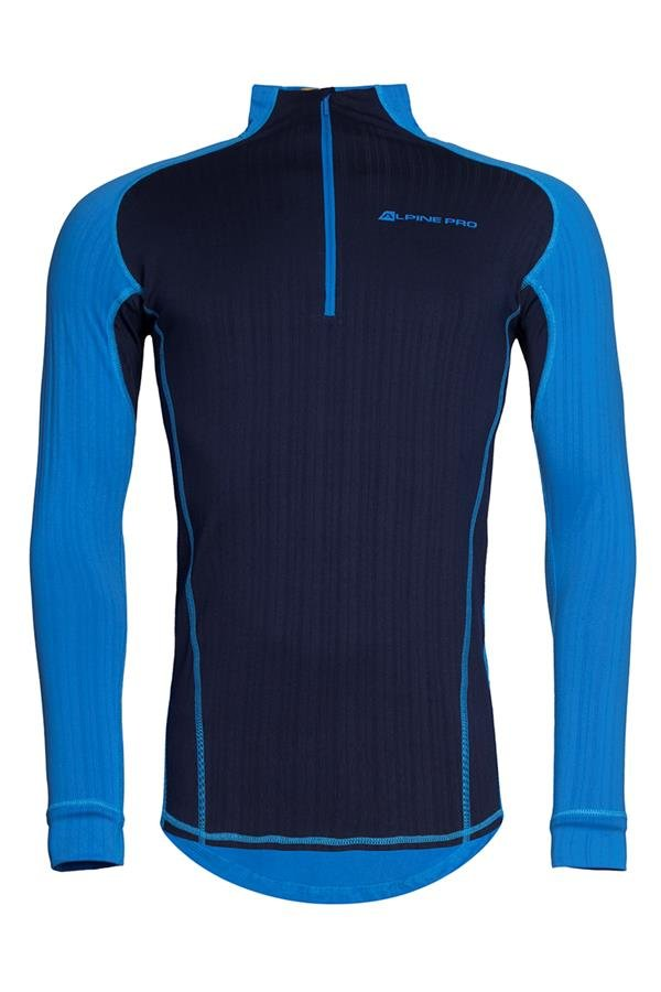 Modré pánské funkční tričko Alpine Pro - velikost XS
