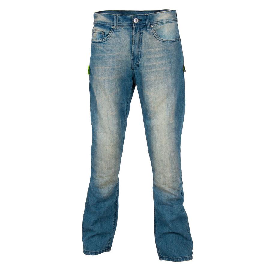 Modré pánské motorkářské kalhoty Airweigt, W-TEC - velikost 4XL