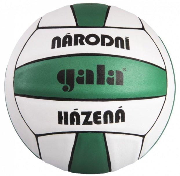 Bílo-zelený míč na házenou BH3012S, Gala - velikost 3