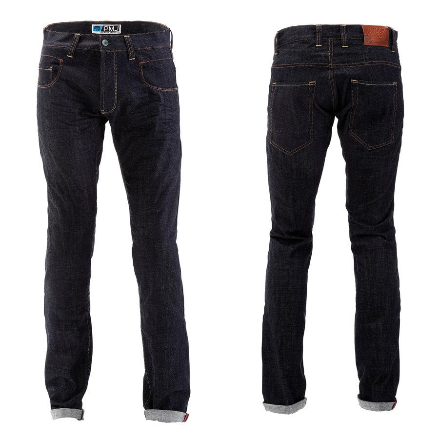 Modré pánské motorkářské kalhoty City, PMJ Promo Jeans