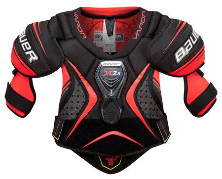 Černo-červený hokejový chránič ramen - senior Bauer