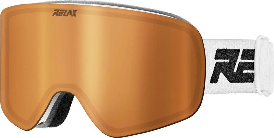 Bílé lyžařské brýle Relax