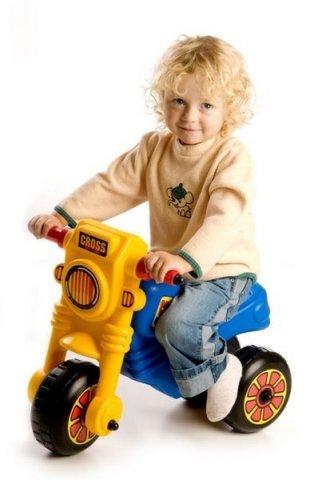 Modro-žluté dětské odrážedlo Teddies
