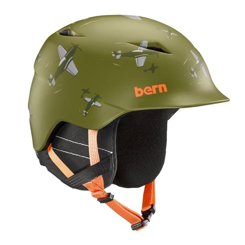 Zelená dětská helma na snowboard Bern - velikost 53-55 cm