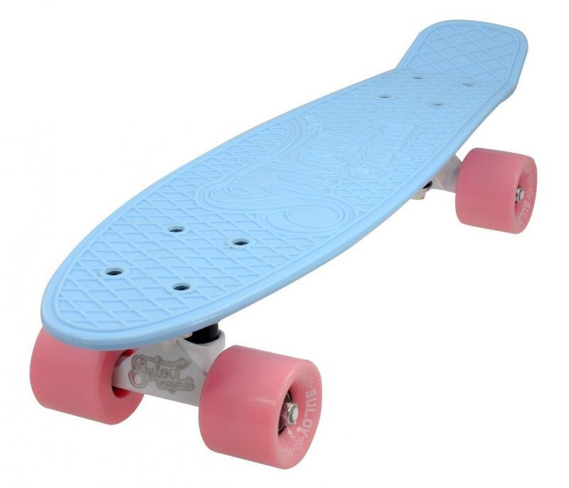 "Pennyboard - Penny board 22"" SULOV PASTEL modro-ružový"