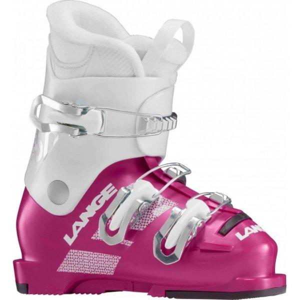 Bílo-růžové dívčí lyžařské boty Lange