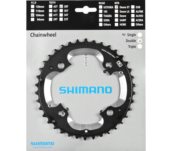 Převodník na kolo - Shimano-servis převodník 38z Shimano XT FC-M785 2x10 4 díry 38z (AK)