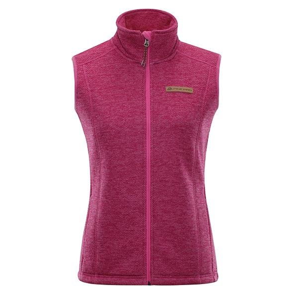 Růžová zimní dámská vesta Alpine Pro - velikost XXL
