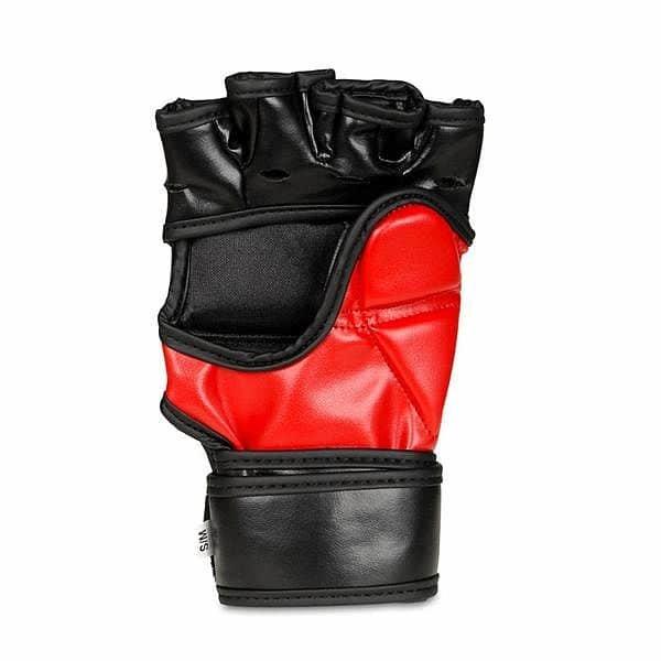 Černo-červené MMA rukavice Bushido - velikost XL