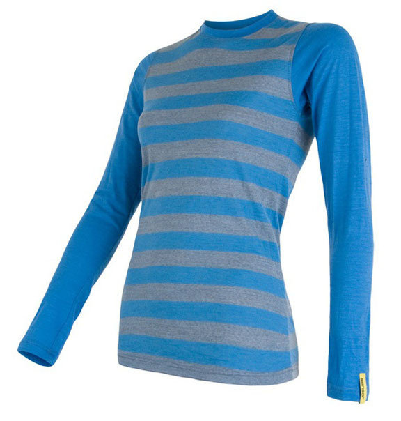 Modré dámské tričko s dlouhým rukávem Sensor - velikost L